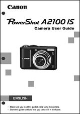 Canon Powershot A2100 Is Digital Camera User Guide Instruction Manual