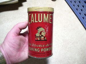 Antique Early Style Kitchen Calumet Baking Powder Tin