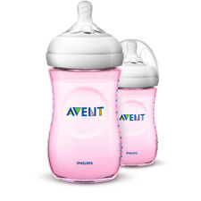 Philips Avent Natural 2.0 Baby Bottles 260 Ml Capacity Pink 2 Count