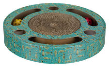 Kitten Scratching Drum cardboard with catnip 2 balls inside entice cat to play