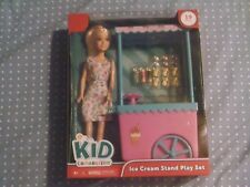 KID CONNECTION 19 PIECE ICE CREAM STAND PLAY SET w/ FASHION DOLL - NWT