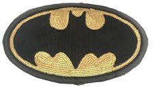 "Batman Sequins Large 11"" Wide Iron on Jacket Patch"