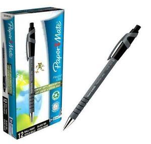 PaperMate Flexgrip Ultra 1.0mm Capped Ballpoint Pen Pack of 3 , Black