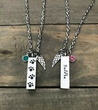 Pet urn Memorial necklace personalized name cremation ashes loss of Cat Dog Gift