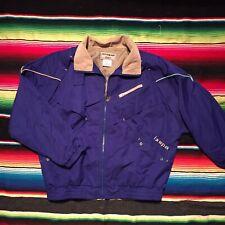 Vintage 80s Ixspa Golf Windbreaker Jacket Size Medium Zip Up Nylon Blue