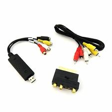 Converter Tapes VHS Video to DVD Capture Kit Scart Leads USB RCA Lead HDTV