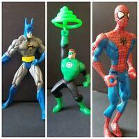 "Marvel DC Comics & Green Lantern Super Heroes Lot of 3 ~ Action Figures 6"""