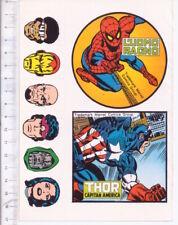 SPIDERMAN UOMO RAGNO - CAPITAN AMERICA 70s Marvel Corno italy stickers adesive