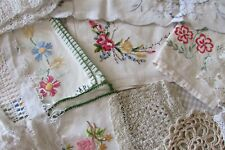 HUGE Job Lot 25 Antique French Doilies Lace Table Mats Embroidery 1900-1940s