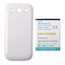 4500mAh Extended Battery + White Back Case for Samsung Galaxy S3 S 3 III i9300