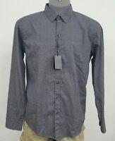 HUGO BOSS Black Label Grey Geometric Sharp Fit L/S Men's Shirt NWT $145 L XL 2XL
