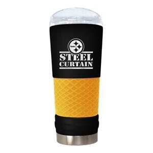 PITTSBURGH STEELERS 18 OZ. STAINLESS STEEL VACUUM INSULATED TRAVEL COFFEE MUG