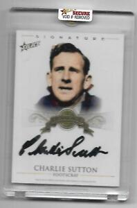 2011 Select Heritage Signature (HS5) Charlie SUTTON Footscray 076/100
