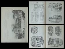 LAUSANNE, PALAIS DE RUMINE - PLANCHES ARCHITECTURE 1905 - GASPARD ANDRE