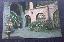 POSTCARD: BRULATOUR COURTYARD: NEW ORLEANS: POST DATE ON CARD IS 1987
