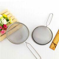 2Pcs Kitchen-Stainless Steel Mesh Wire Flour Colander Sifter Sieve B1I1