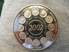 Médaille, France, Naissance de l'euro fiduciaire, 2002, pièce ESSAI