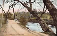 LAND OF THE SKY NORTH CAROLINA LOVERS BRIDGE POSTCARD c1910s