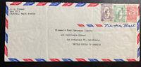 1955 Dhahran Saudi Arabia Airmail cover to Fireman Fund San Francisco ca USA