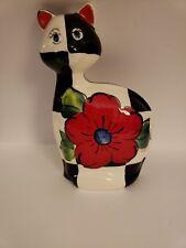 "Turov Ceramic Hand Painted Cat 9"" Tall"