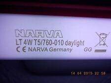 """NARVA F4T5/D 4W 6"""" Fluorescent Light Bulb T5 Tube G5 Base Day Light 6000K 6 """" 4w"""