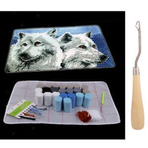 Knüpfteppich Wolf für Kinder und Erwachsene zum Selber Knüpfen Teppich,