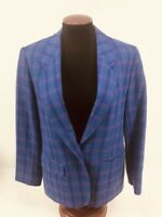 Pendleton Jacket Purple Plaid Wool USA Made Blazer Lined Womens Size 12