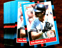 1988 Donruss DON MATTINGLY ~ 50 CARDS LOT ~ H0F?  NY YANKEES STAR 1ST BASEMAN