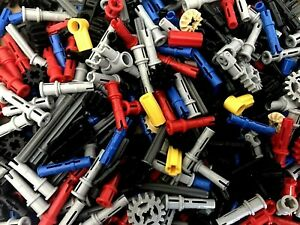 Lego Technic 130+ NEW mixed pins, connectors, bushes, 8x gears, axles, 2x joints
