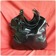 Ysl Yves Saint Laurent Large Black Tribute Flat Tote Bag