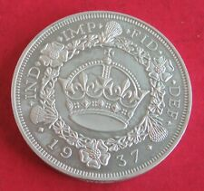 More details for 1937 edward viii hallmarked silver proof pattern wreath crown