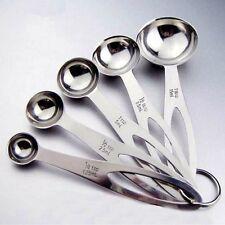 5x Potable Stainless Steel Measuring Spoon Cup Tea Coffee Cooking Baking Scoop
