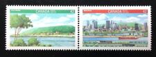 Canada #1404-1405a MNH, Canada 92 - Montreal and Ville Marie Pair of Stamps 1992