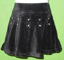 Guess baby girl  size 2 T black cotton velvet pleated skirt lining