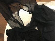 2 Pairs of Special Crotchless Ultra sheer Used Worn Tights/Hoses/Nylon