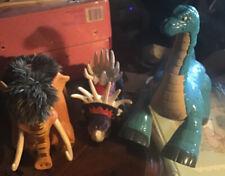 Lot 3 Mattel Imaginext Dinosaur Mammoth Roars Brontosaurus Stracosaurus Saddle