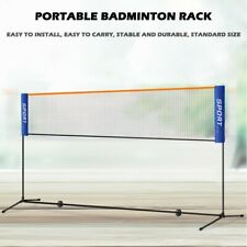 Portable Sports Net Stand Badminton Volleyball Tennis Soccer 10 Feet Blue