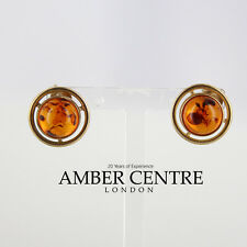 Italian Made Exquisite Baltic Amber Studs In 9ct Gold RRP£200!!! GS0011