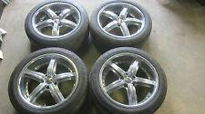 """18"""" DUB Wheels Rims Chevy Impala 5 lug with TIRES 245/45R18 GOODYEAR JINYU"""