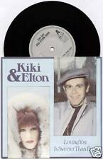"KIKI DEE & ELTON JOHN~ LOVING YOU IS SWEETER THAN EVER~1981 UK 7"" SINGLE + P/S"
