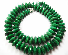 SUPER QUALITY Finest Emerald FACETED GERMAN CUT BEADS Necklace 7.5-13 MM 16""