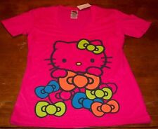 WOMEN'S TEEN Sanrio HELLO KITTY w/ BOWS T-shirt MEDIUM NEW w/ TAG