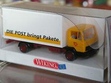 Rare: wiking suisse MERCEDES 814 valise camion ptt la poste apporte paquets OVP