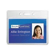 Sicurix Id Badge Transit Card Holder Horizontal Clear 50 Pack Baumgartens