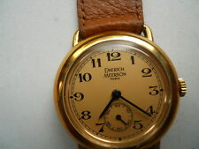 Vintage Emerich Meerson women's Brown leather band,wind up & Analog watch