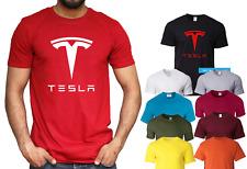Tesla Motors Logo T-shirt Electric Car Elon Musk Model 3 S X Gift Top ALL SIZES