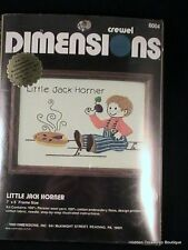 """Little Jack Horner"" Needlepoint Kit by Crewel Dimensions #6004"