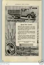 1928 PAPER AD REO Speedwagon Stake truck COOL Car Auto Automobile