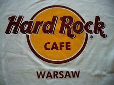 HRC Hard Rock Cafe Warsaw Warschau Classic Logo White Tee Size S New NWT