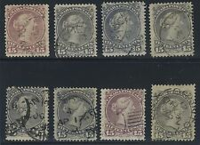 Canada 1868 Large Queen 15c - 8 dated/partial dated copies #29 - 30 CDS